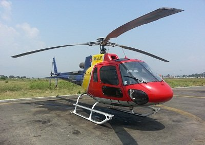 file photo of crushed helicopter from nepali times