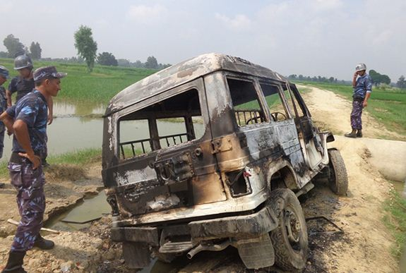 mahottari burnt ambulance sep 11_2