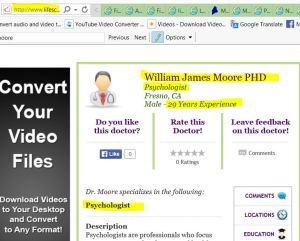 william james moore 29 years experience psychologist fresno CA