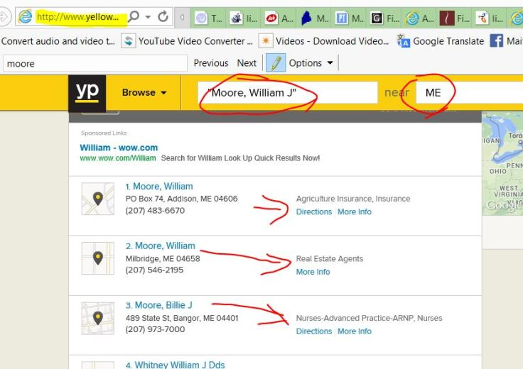 yellow pages moore ME missing
